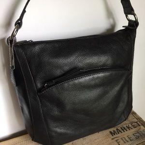 Handbags - Black leather shoulder handbag